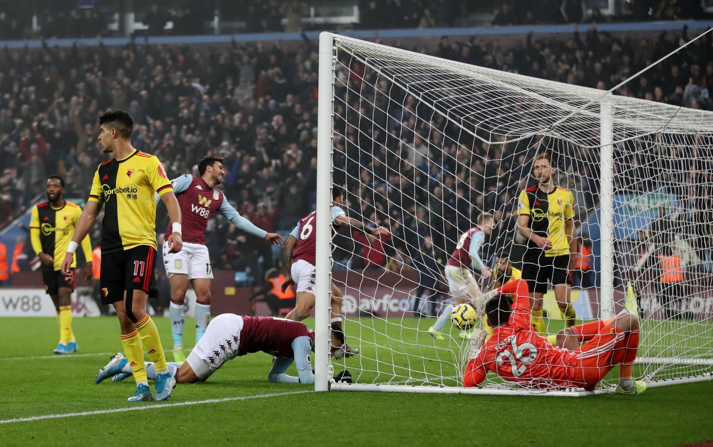 Watford throw away lead to lose at Aston Villa