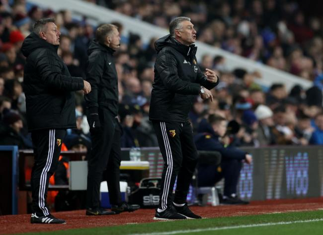 Nigel Pearson during Watford's defeat to Aston Villa. Picture: Action Images