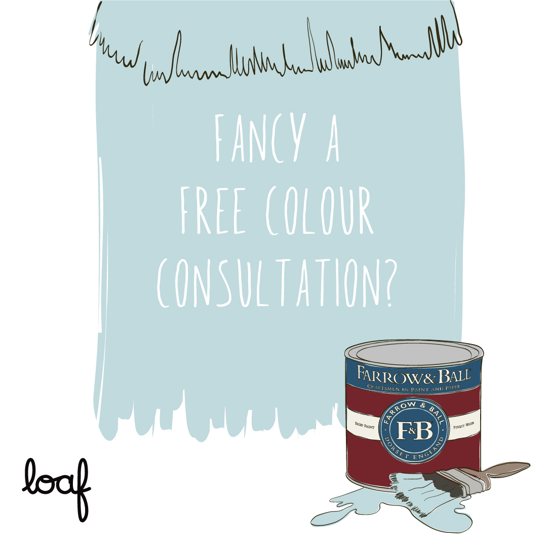 Loaf x Farrow & Ball free colour consultations