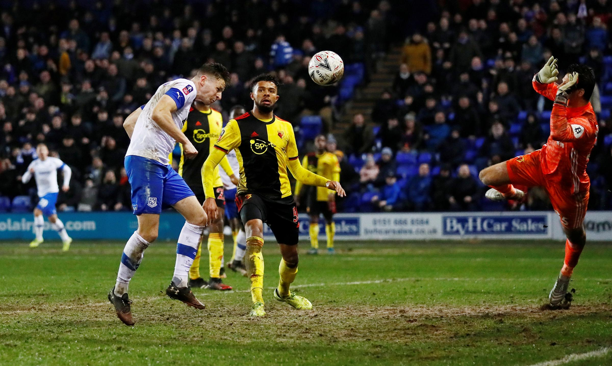 Watford lose to Tranmere Rovers in FA Cup third round replay