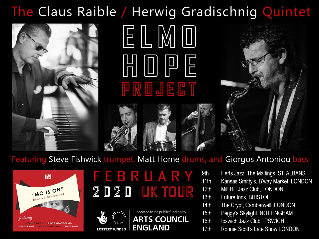 Raible/Gradischnig Quintet - Elmo Hope Project at Herts Jazz in St Albans