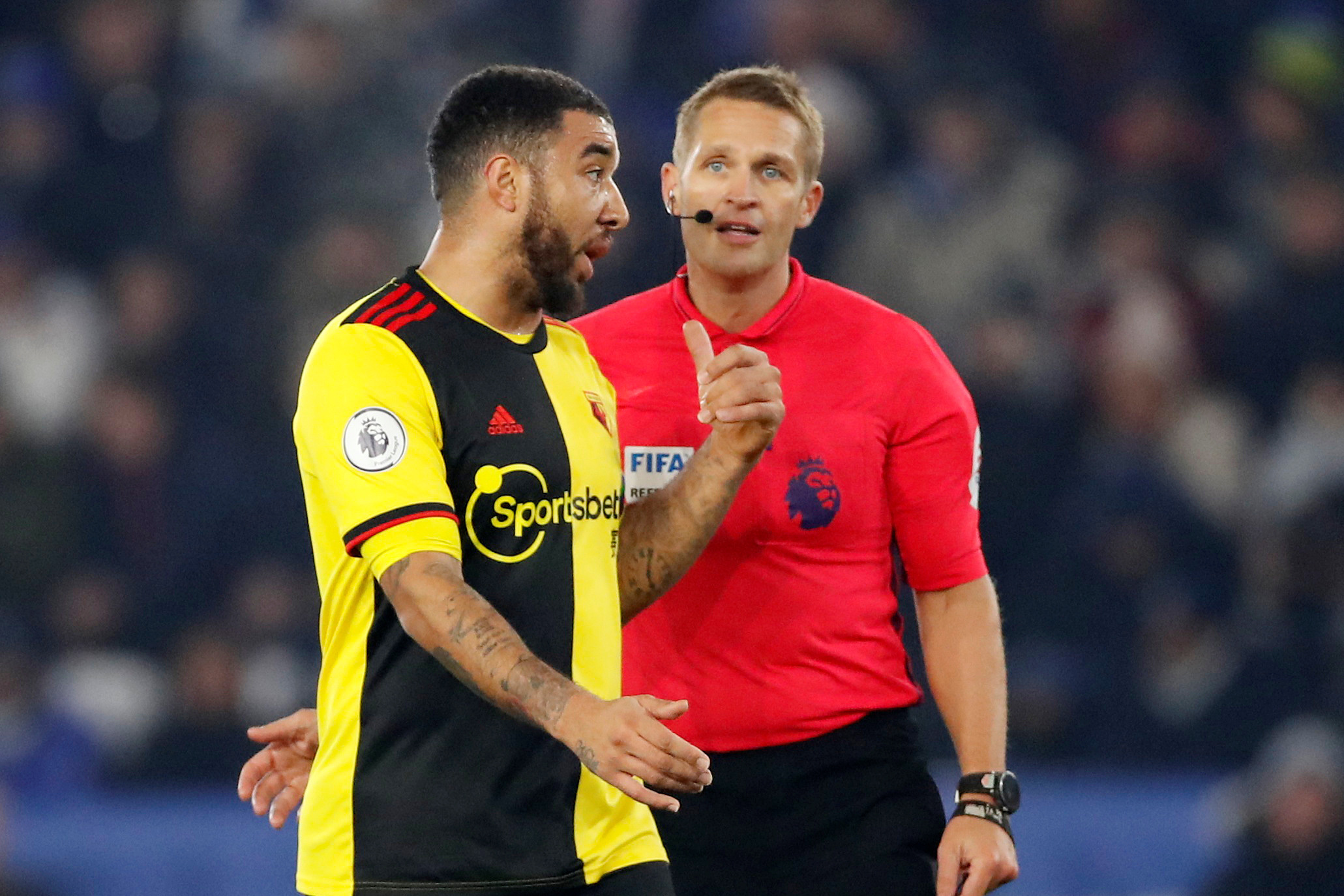 Craig Pawson referee for Watford's game with Everton