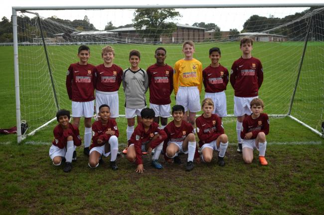 Parmiter's School's Year 7B football team have reached the quarter-final of the National Cup.