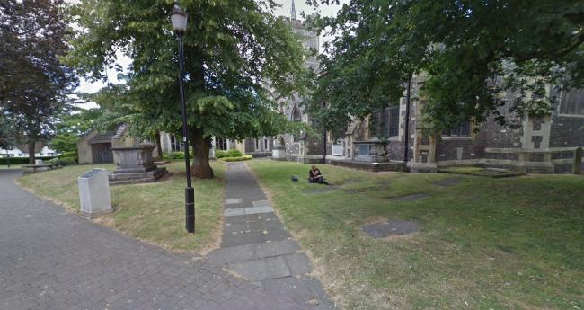Two teenagers were attacked by a group in St Marys Churchyard (Photo: Street View)