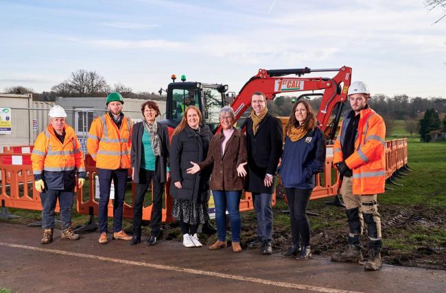 Work is underway at the park (photo Watford Council)