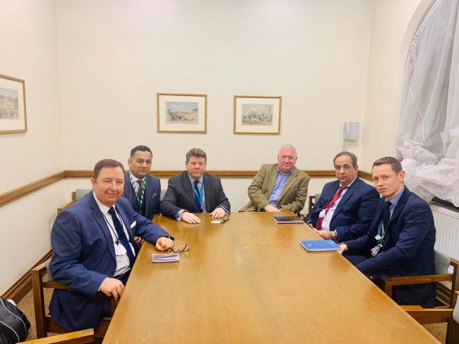Herts MPs with West Midlands Train bosses at the meeting