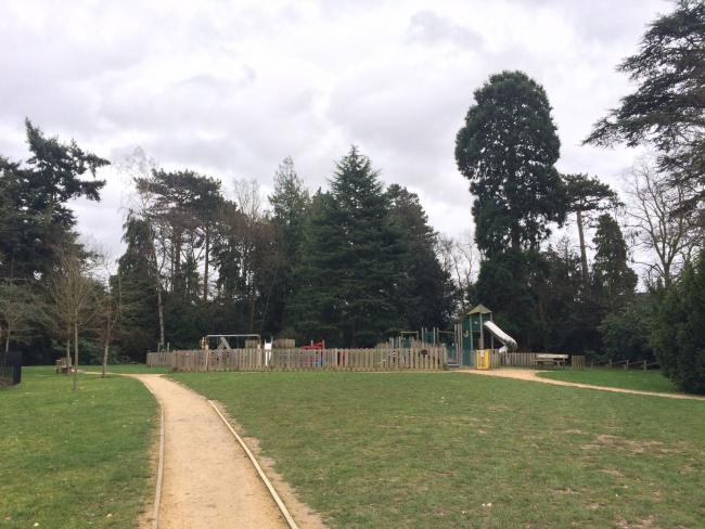The children's play park at Nascot Grange
