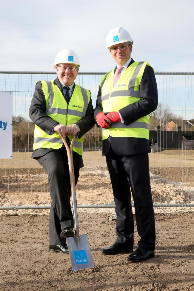 Watford MP Dean Russell, left, pictured with Mayfield Villages CEO Nick Sanderson