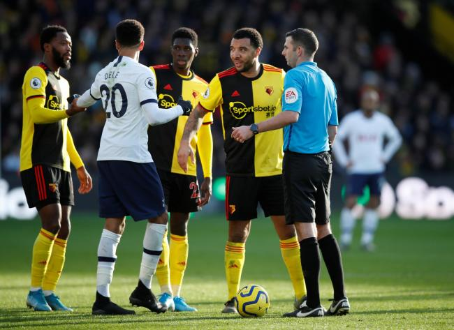 Michael Oliver during Watford's home draw with Tottenham. Picture: Action Images