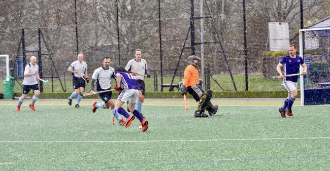 West Herts Seconds had to contend with awful weather in their defeat against Crostyx. Picture: Len Kerswill