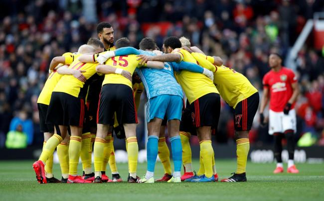 Watford players are involved in the Players Together collective. Picture: Action Images