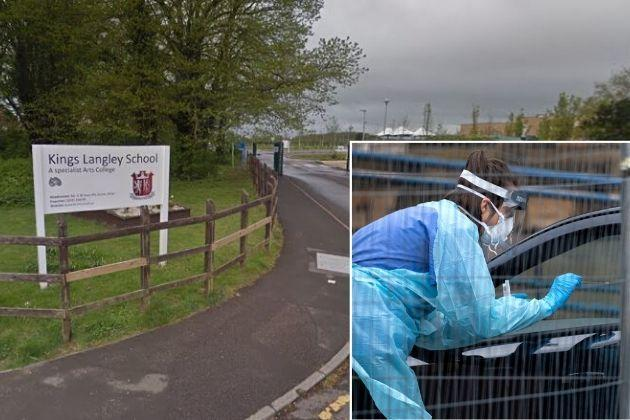 Kings Langley School has confirmed a case of coronavirus. Photos: Google Street View and PA
