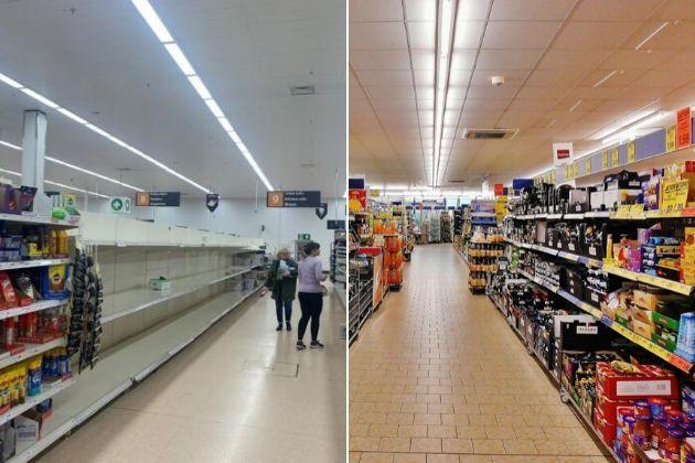Empty shelves have been seen in supermarket shelves as people panic buy during the coronavirus outbreak. Photos: Nathan Louis/Newsquest and Pixabay