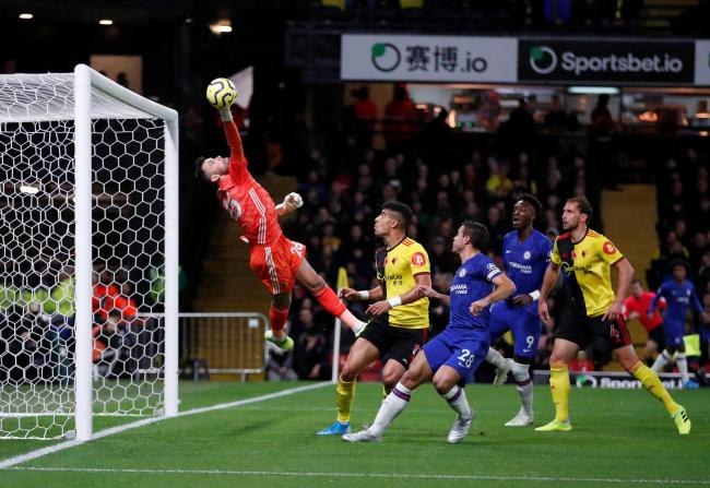 Ben Foster makes a good save to deny Chelsea a goal. Picture: Action Images