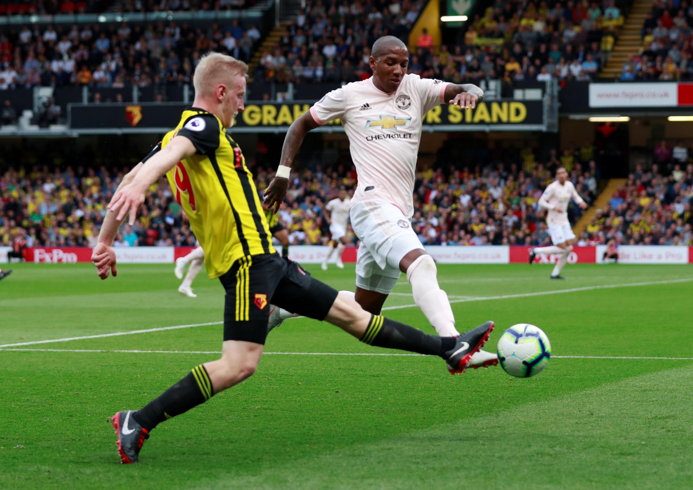 Inter Milan's former Watford and Manchester United winger Ashley Young provides coronavirus advice