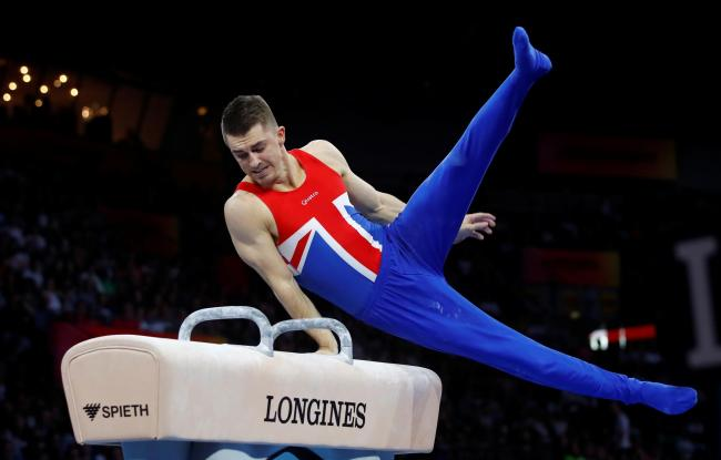 Max Whitlock is trying to stay positive following the postponement of the olympics. Picture: Action Images