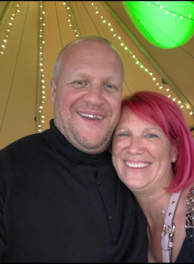 Kelly (left) and his wife Mandy (right)