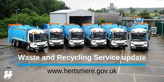 Hertsmere Borough Council is making changes to its waste collection service.