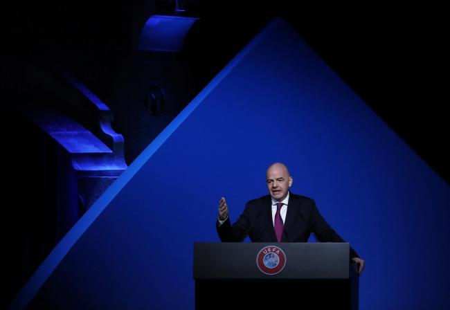 FIFA President Gianni Infantino. Picture: Action Images