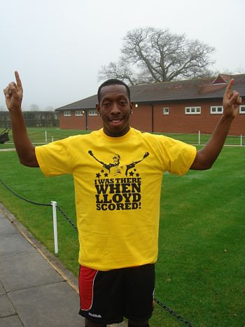 More shirts celebrating Lloyd Doyley's first ever goal may be printed