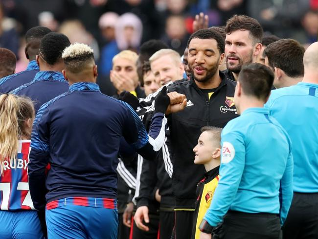 Watford line up against Crystal Palace in their last Premier League game. Picture: Action Images