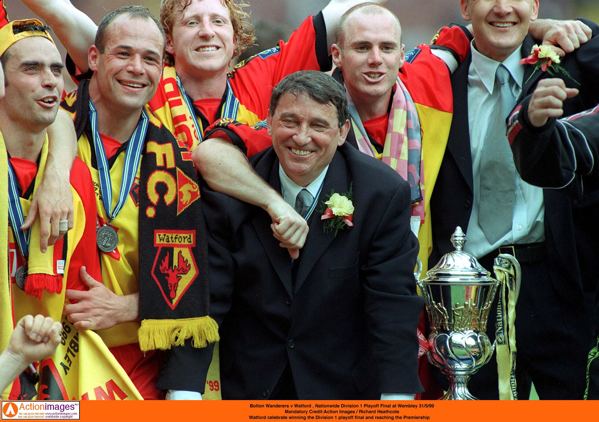 Watford beat Bolton to gain Premier League promotion in 1999