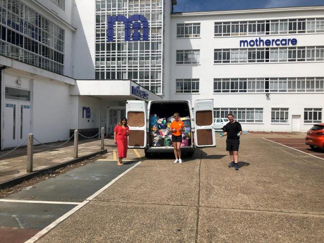 Mothercare donates clothes to charity Home-Start. Credit: Emma Power