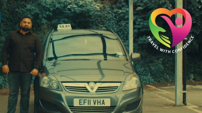 Cab drivers can now put a confidence mark on their cabs if they pass a programme (photo Watford Council)