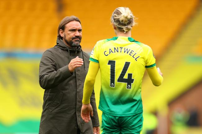 Todd Cantwell will not be available for tonight's game between Watford and Norwich. Picture: Action Images