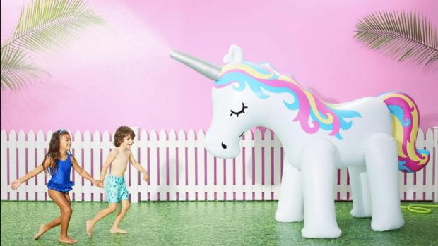 Watford Observer: This unicorn sprinkler looms above kids, but it's a good size for adults, too. Credit: Sun Squad