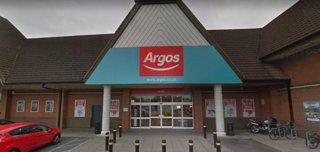 The Argos store at Waterfields Retail Park will reopen next week Photo: Street View