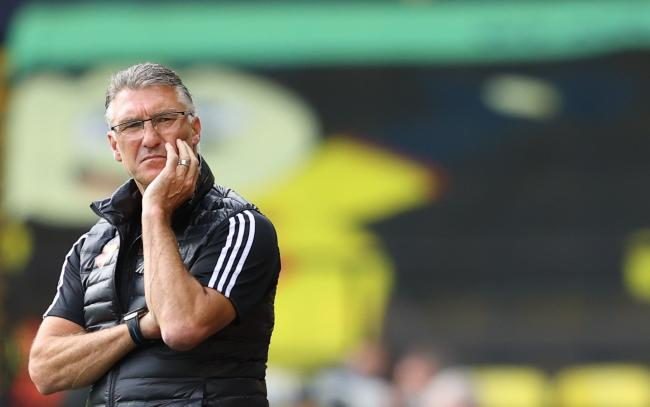 Nigel Pearson at an empty Vicarage Road. Picture: Action Images