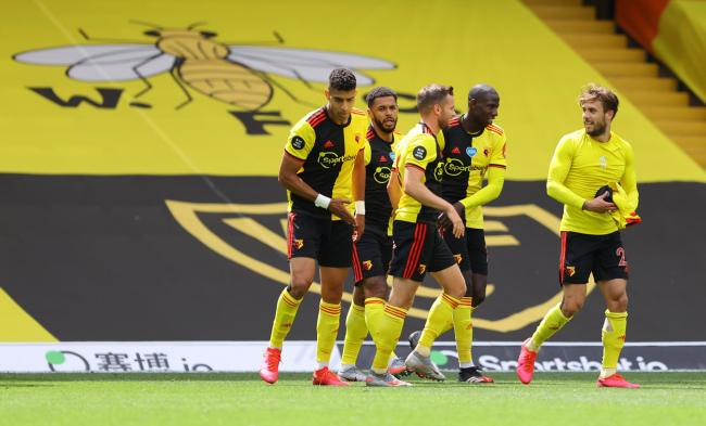 Watford players after their win over Newcastle. Picture: Action Images