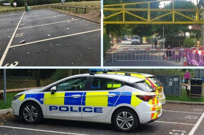 Police say action has been taken and continues to take place in Cassiobury Park