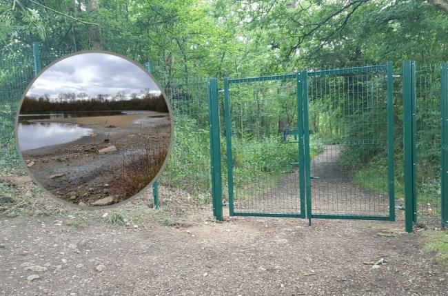 A new fence has been constructed at Aldenham Reservoir
