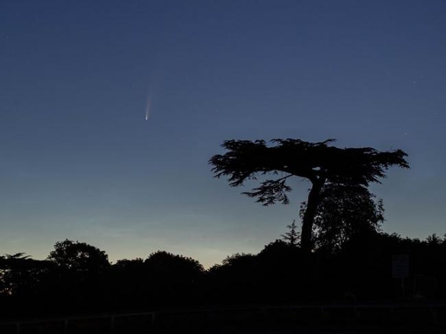 Comet Neowise over Watford by Camera Club member Marek Wasalski