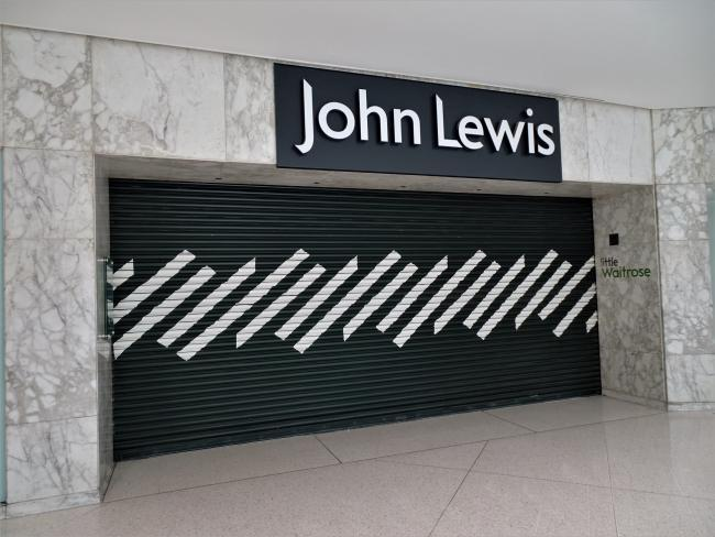 The shutters are down at John Lewis at intu Watford. CreditL Stephen Danzig/Watford Observer Camera Club