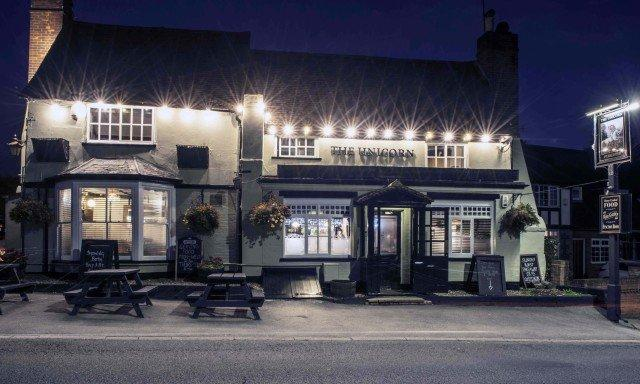The Unicorn at night 'taken by one of our lovely regulars Simm'