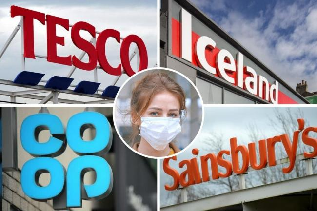 Aldi, Co-op, Iceland, Lidl, Tesco, Sainsbury's and Waitrose update face mask rules. Picture: Newsquest