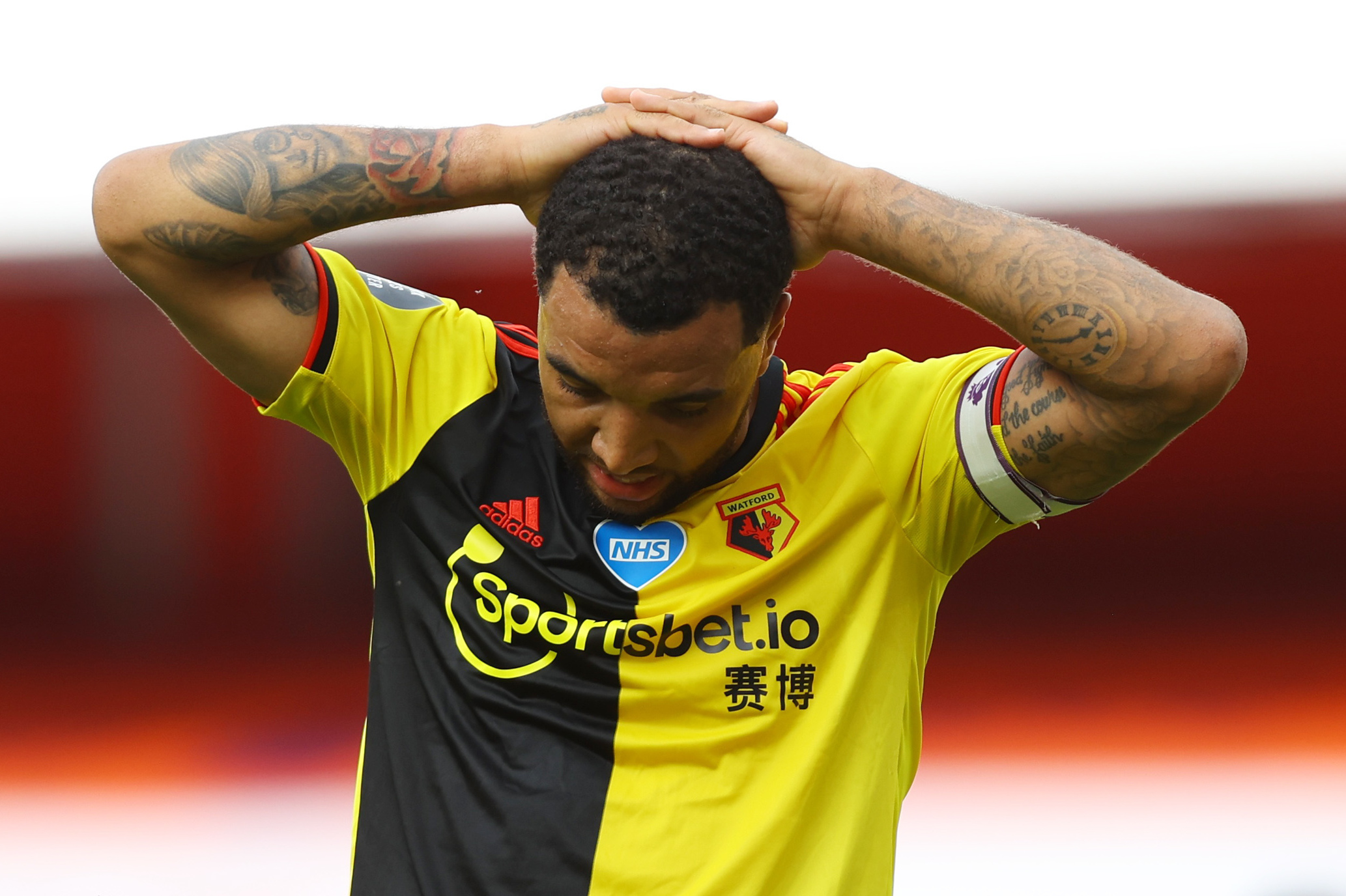 Troy Deeney has released a brief message following Watford's relegation