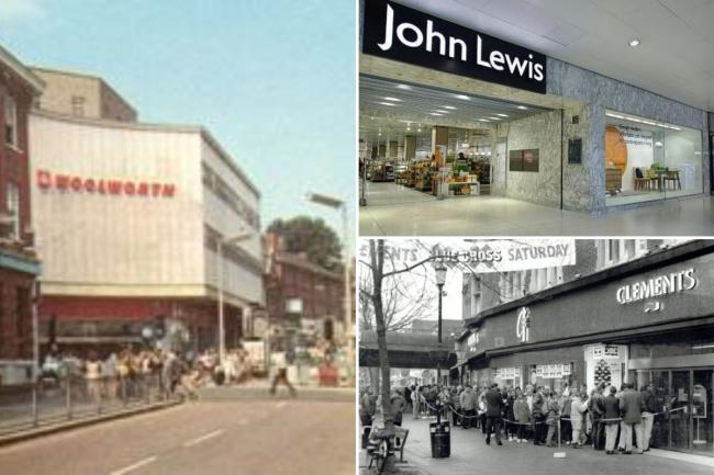 High street shops that Watford people have missed include Woolworths, John Lewis and Clements