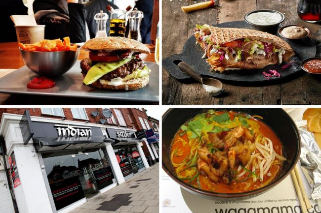 Watford restaurants in the Eat Out to Help Out scheme. Photos: Pixabay, German Doner Kebab, Holly Cant, Flickr/richardhsu