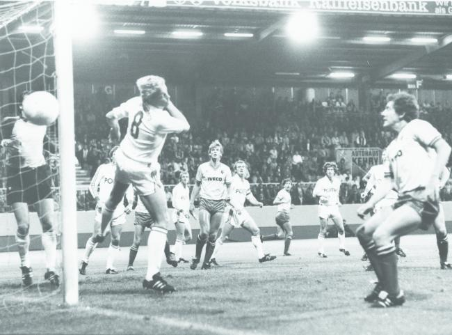 Watford's first ever match in Europe against Kaiserslauten in 1983