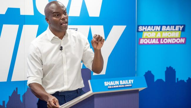 Mayoral candidate Shaun Bailey has previously called himself a 'blue collar Conservative' (Photo: Shaun Bailey / Twitter).