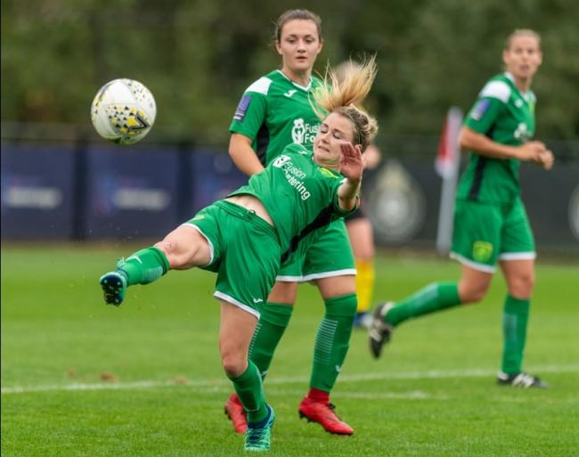 Sarah Wiltshire faced Watford with Yeovil last season. Picture: Andrew Waller