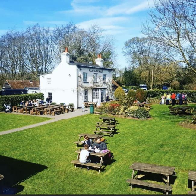The Cart and Horses' garden, pictured in 2018, has room for up to 200 people