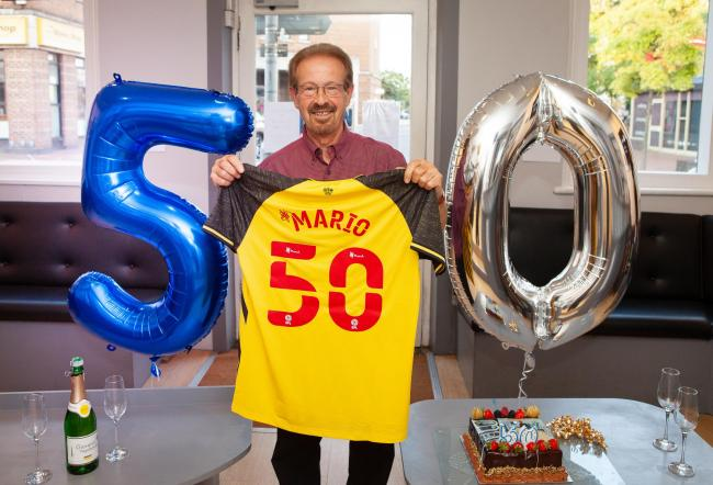 Mario Petagine marked 50 years at Headhunters with a celebration on Wednesday. Credit: Antony Alexandrou/3A Photography