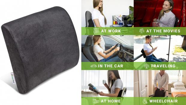 Watford Observer: You can also use the pillow on your desk chair or couch. Credit: Supportitback