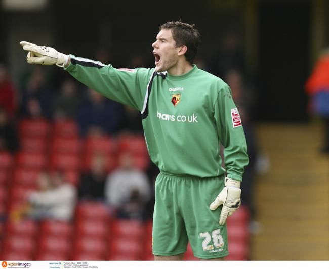 Ben Foster during Watford's last game with Luton in 2006. Picture: Action Images