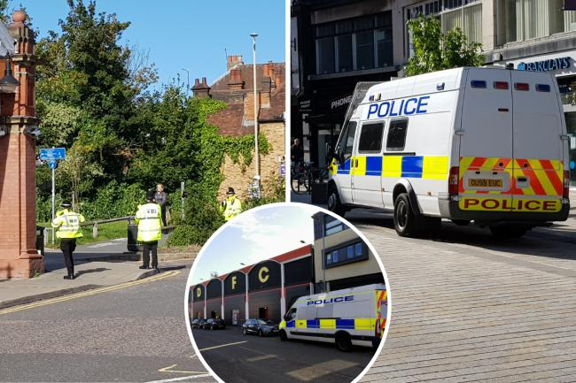 Police were on patrol this morning in Watford